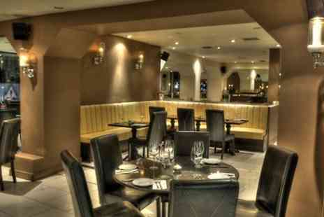 New Elysium - Fillet Steak and King Prawn Surf and Turf With Wine For Two  - Save 55%