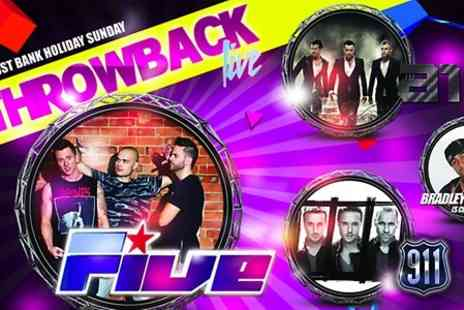 Throwback LIVE - Tickets to Throwback Live Featuring 5ive  - Save 25%