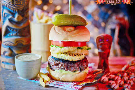 Lola Lo - Burger, Hot Dog, or Pizza for Two with Cocktail Each - Save 65%