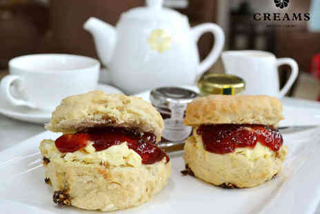 Creams Leeds - Yorkshire Cream Tea for Two  - Save 50%