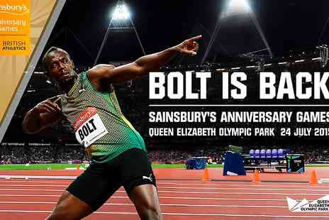 UK Athletics - Ticket to Sainsburys Anniversary Games ft Usain Bolt - Save 0%