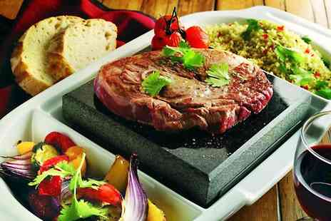 Steakhouse - Volcanic Rock Steak Meal With Wine - Save 50%