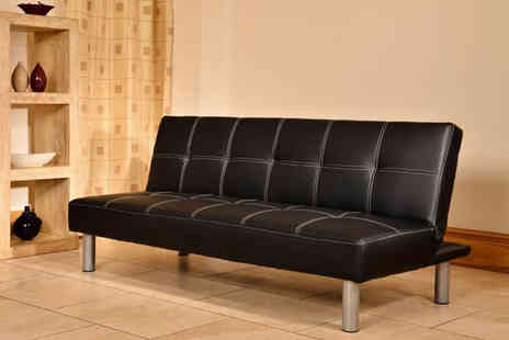 Furniture Deals - Cancun faux leather sofa bed   - Save 73%