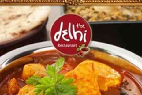 The Delhi Restaurant Solihull - Three Courses of Indian Cuisine For Two - Save 61%