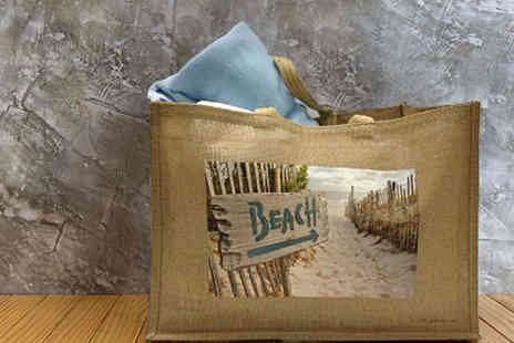 Great Photo Gifts - Personalised Jute Beach Bag - Save 56%