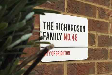 UK Sign Shop - Personalised London Style House Sign With Free Delivery - Save 74%