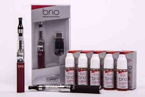 CLIPPER UK  - Brio Clipper Tank E Cigarette Kit Plus 5 E-liquids in Choice of Flavour, 18mg Nicotine Plus Free Delivery - Save 46%