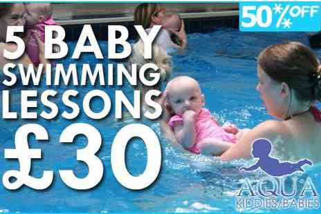 Aquakiddies Babies  - Splash out on a course of Aquakiddies swimming lessons - Save 50%