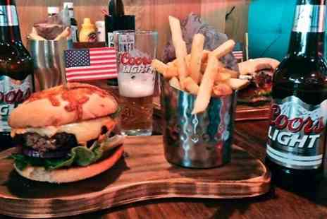 Rack and Dollar - Burger, Beer and Pool For Two  - Save 58%