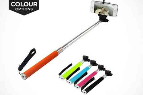 Redeem Voucher - Extendable Bluetooth Selfie Stick in a Choice of Colours  - Save 0%