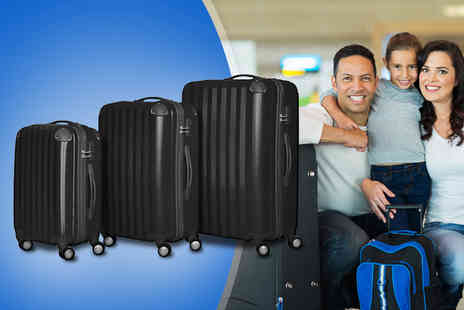 Elegant Trading - Three piece hard shell travel luggage set - Save 60%