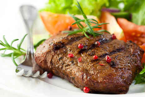 Real Steakhouse and Grill -  Choice of Rump Steaks with Tea or Coffee for Two  - Save 44%