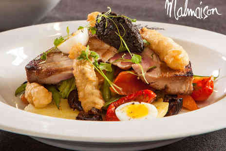 Malmaison - Starter, Main Course, and Glass of Prosecco or Wine Each for Two - Save 0%