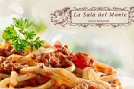 La Sala Del Monte - Two Courses of Italian Cuisine For Two - Save 57%