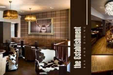 The Establishment - Two course gastro pub meal for two people with glass of wine - Save 58%