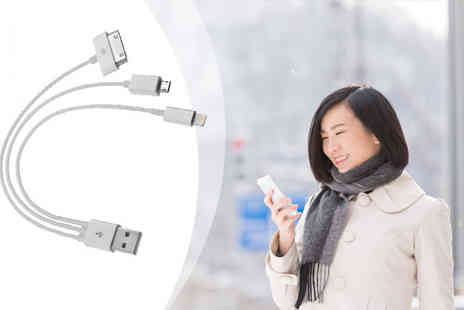 iThink Gadgets - 3 in 1 USB Charger Cable for iPhone and Android - Save 85%