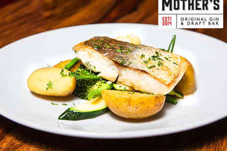 Mothers Gin Bar - Starter, Main Course, and Glass of Prosecco Each for Two - Save 59%