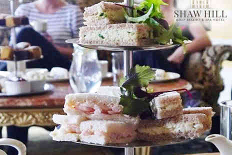 Shaw Hill Golf Resort - Afternoon Tea for Two with Spa Access - Save 50%