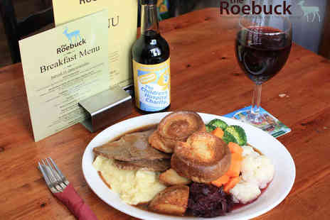 The Roebuck - Starter and Main Course for Two with a Glass of Wine Each - Save 0%