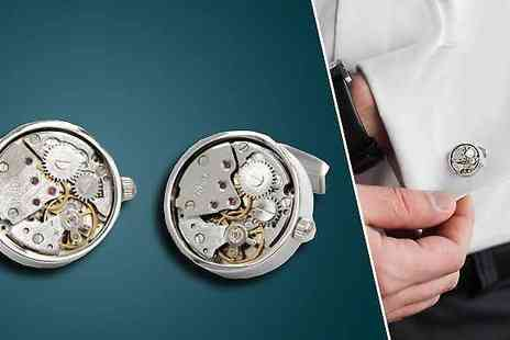 Cartres - Skeleton Mechanical Cufflinks - Save 80%