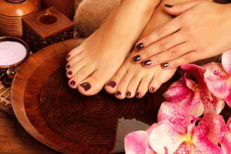 The Salon - Gel maincure and pedicure - Save 60%