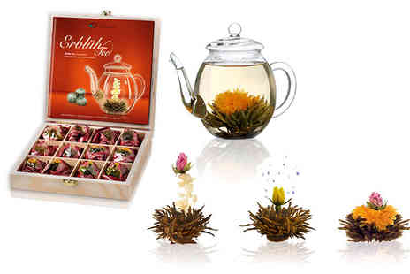 Creano - Choice of six flowering Abloom white or black tea gift sets  - Save 29%