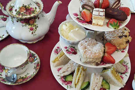 Finest Blend - Premium Afternoon Tea for Two with a Glass of Champagne Each  - Save 50%