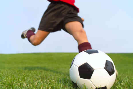 SIV - Ten Football Coaching Sessions for One Child or Two Children Or Five A Side Football Pitch Hire  - Save 51%