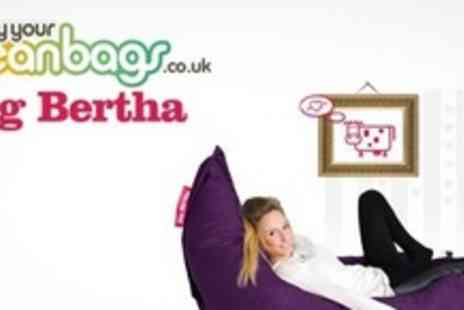 Big Bertha -  Two extra large Heffer bean bags - Save 76%