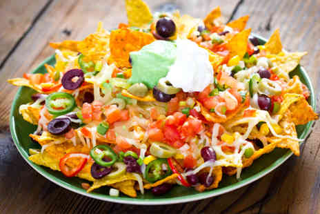 Nachos - Two course Mexican meal for two including nachos to share and a main course each - Save 52%
