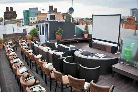 Press Play - Film Ticket at Choice of Rooftop Venue With Beanbag - Save 30%