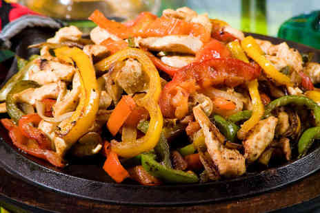 Nachos Mexican Restaurant - Portion of Nachos to Share, Fajita, and Glass of Wine Each for Two  - Save 53%