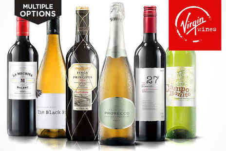 Virgin Wines - Six Bottle Case of Mixed, Red, or White Wine   - Save 63%