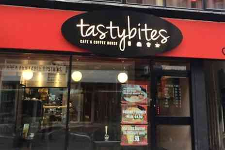 Tasty Bites Restaurant - Full Breakfast and Hot Drink or Burger and Juice   - Save 0%