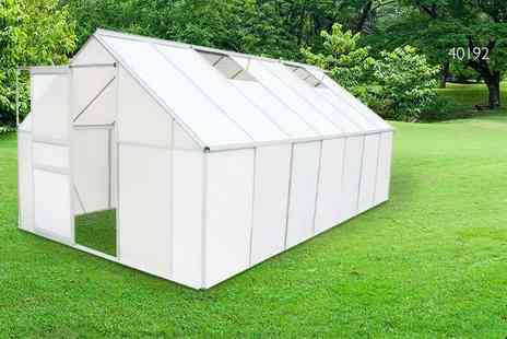 Vida XL - Sturdy polycarbonate and aluminium greenhouse  - Save 59%