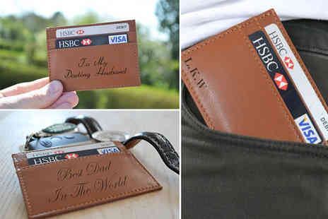 Acrylic Signs - Personalised genuine leather wallet - Save 52%