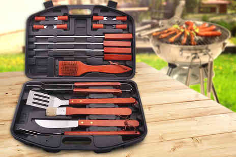 Global Essentials - 18 piece barbecue tool set - Save 75%