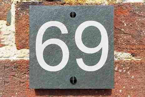 Design A Sign - Personalised Slate House Number Sign  - Save 65%