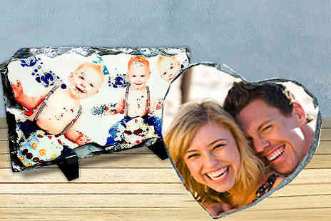 Click Wrap - Personalised Rock Slate Frame - Save 70%