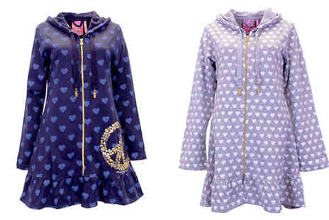 Baronjon - La Senza Heart Print Hooded Nightgown - Save 75%