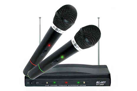 Deals2You - Pro Dual Cordless Microphone - Save 75%