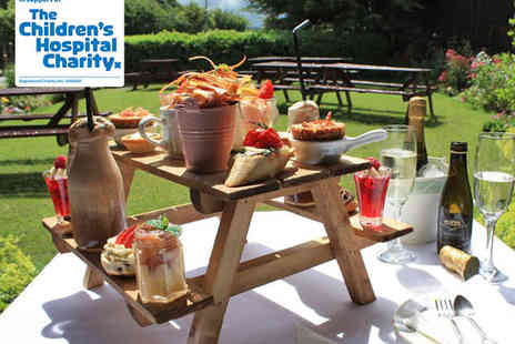The Old Barn Tearooms - Picnic Themed Afternoon Tea with Glass of Prosecco for Two - Save 0%