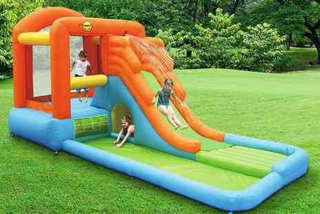 Plastoy  -  16ft Giant Airflow Bouncy Castle with Paddling Pool and Waterslide   - Save 38%