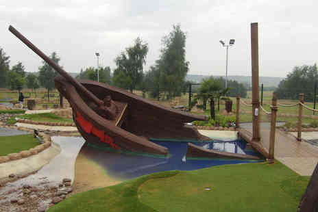 Adventure Leisure  -  18 hole pirate golf for One including a hot drink  - Save 59%