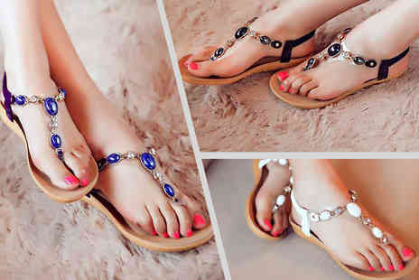 Shine Accessories - Pair of gem sandals - Save 73%