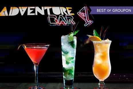 Adventure Bar & Lounge - Three  Cocktails - Save 64%