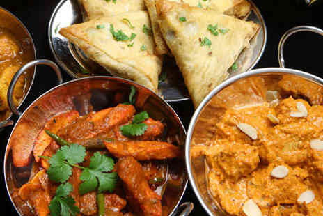 Heera - Indian Buffet for One with a Glass of Wine Each - Save 54%