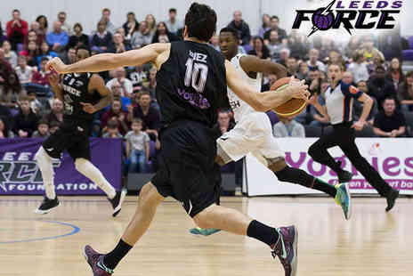Leeds Force Basketball - Leeds Force v Surrey Scorchers Basketball Game - Save 41%