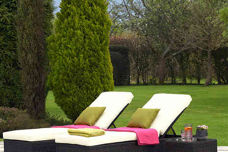 Alison At Home - Riviera Sun Lounger and Coffee Table Set - Save 56%