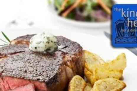 Kings Head - Two Course Gastro Pub Meal For Four With Bottle of Wine - Save 58%